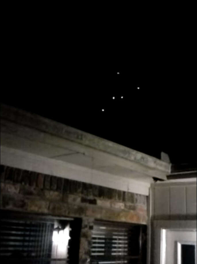 Home video from Conroe, Texas, captured the lights of a purported alien spacecraft in early November.Credit: John Hernandez