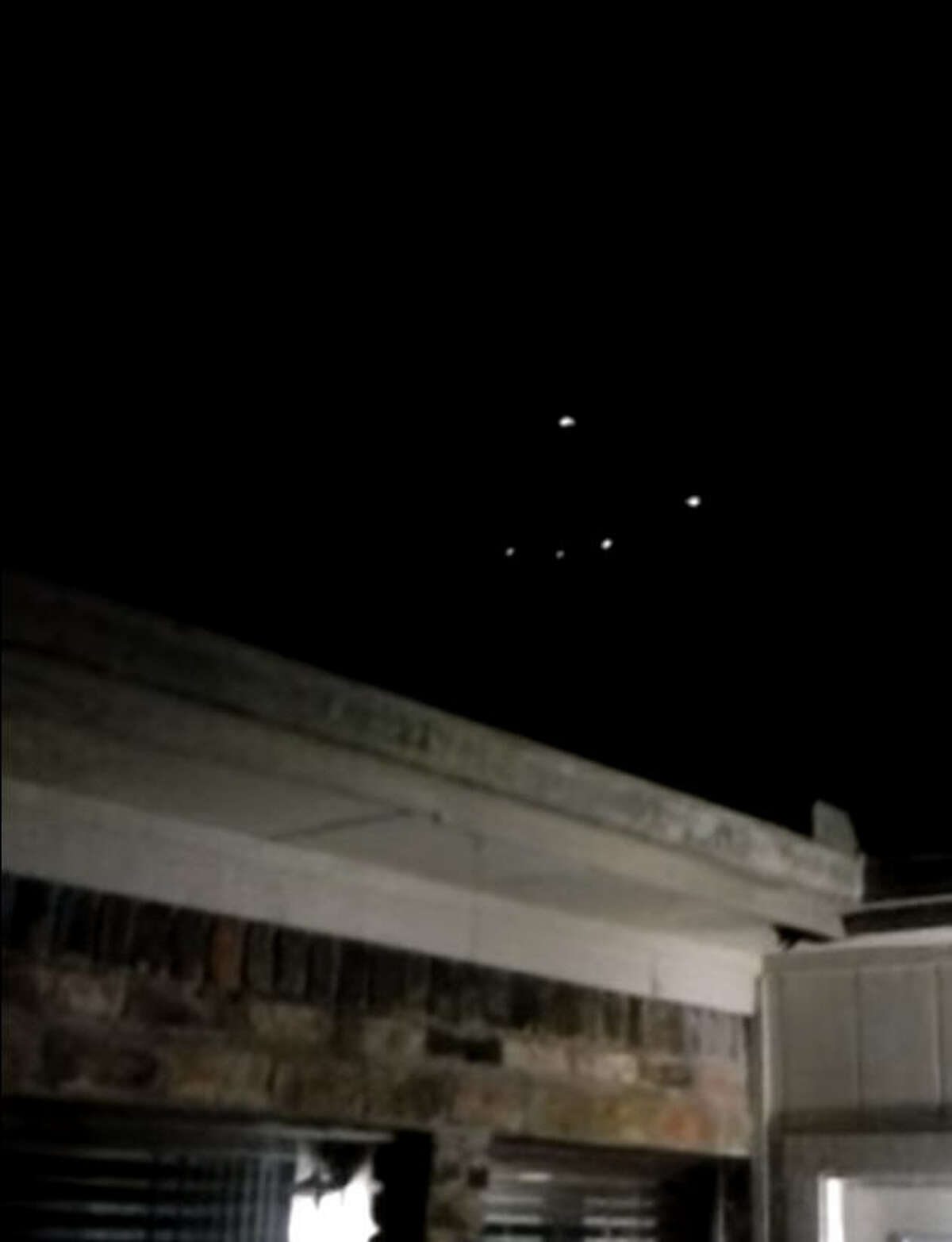Home video from Conroe, Texas, captured the lights of a purported alien spacecraft in early November. Credit: John Hernandez