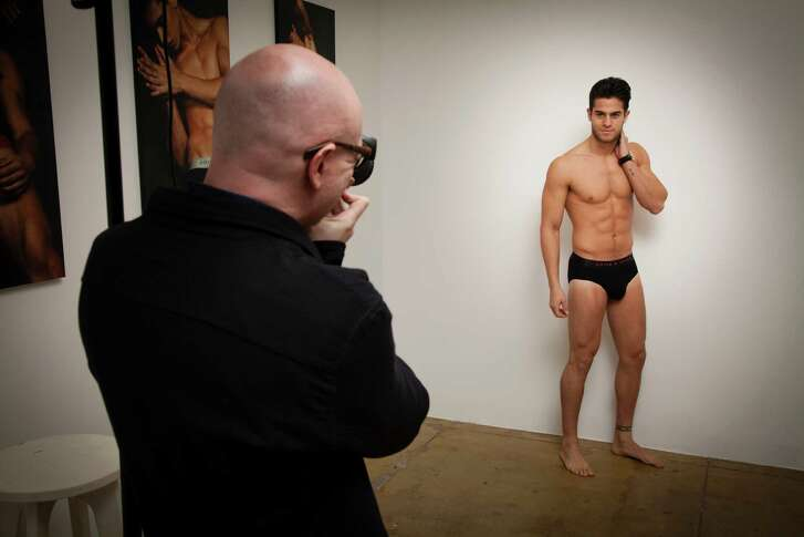Andre Brunelli auditions for a show to debut a Parke & Ronan men's underwear collection. The luxury men's underwear market continues to grow, with niche and major labels competing for sales.