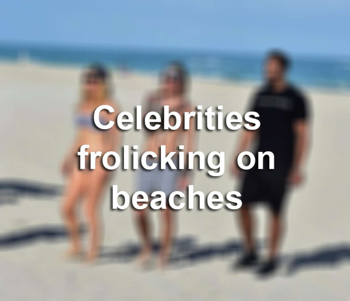 Click through the slideshow to see photos of celebrities hanging out on the beach.