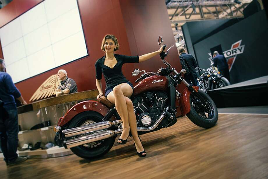 The new 2016 Indian Scout Sixty is unveiled at a launch event in November. Photo: Indian Motorcycles