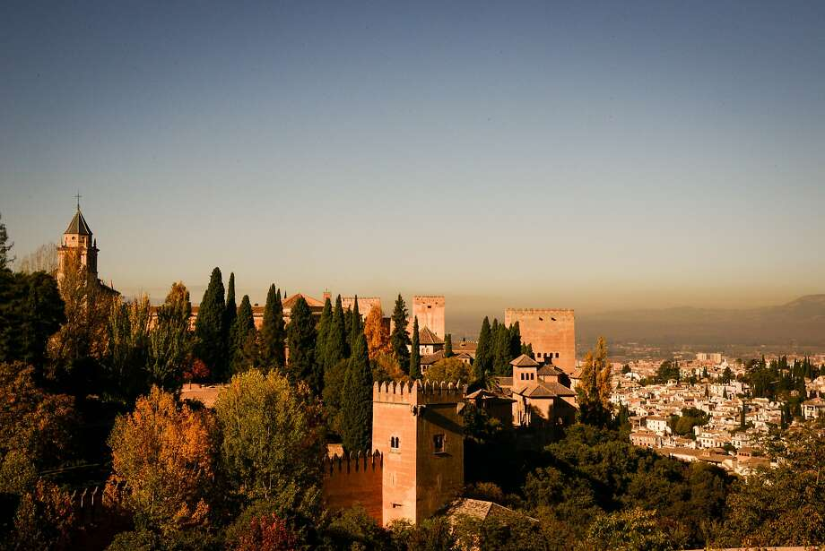 """The Alhambra in Granada was named after its red-hued walls. In Arabic, qa'lat al-Hamra' means """"red walls."""" Photo: Jill K. Robinson, Special To The Chronicle"""