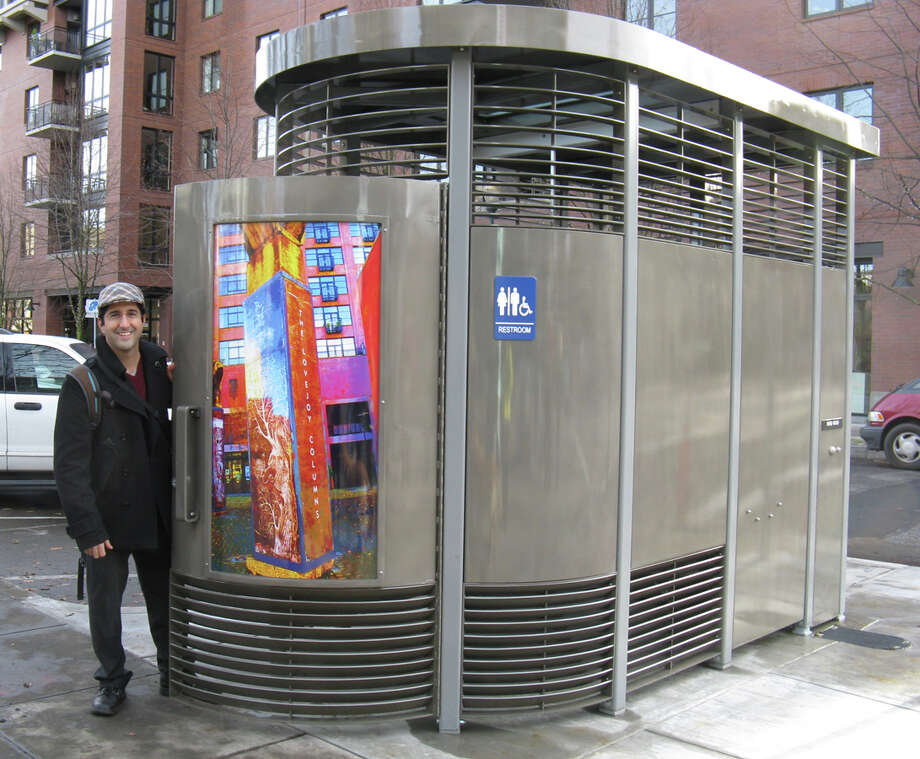 Galveston has contracted with a Portland, Ore., company to set up portable bathrooms with showers along its seawall. Photo courtesy of City of Portland Parks and Recreation,