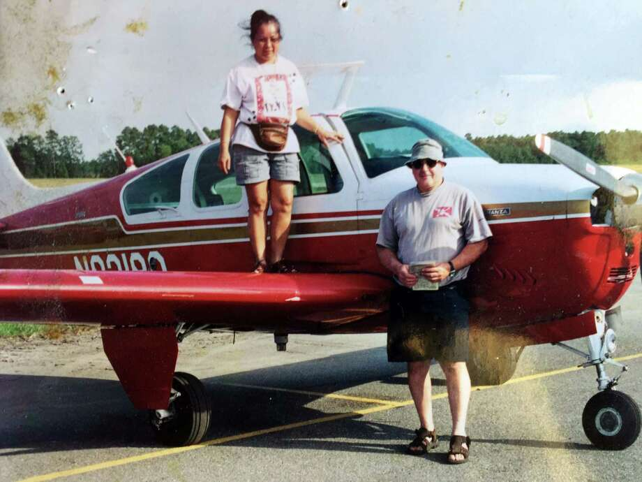 Val Horsa, shown in here with his wife, and Taew Robinson, is believed to be the pilot of a small Cessna plane that went missing Thursday as it was headed to Danbury Airport. New York State authorities spent hours Thursday and Friday searching for the plane in a reservoir in North Salem, where debris from a plane have been located. Photo: Contributed Photo / The News-Times Contributed