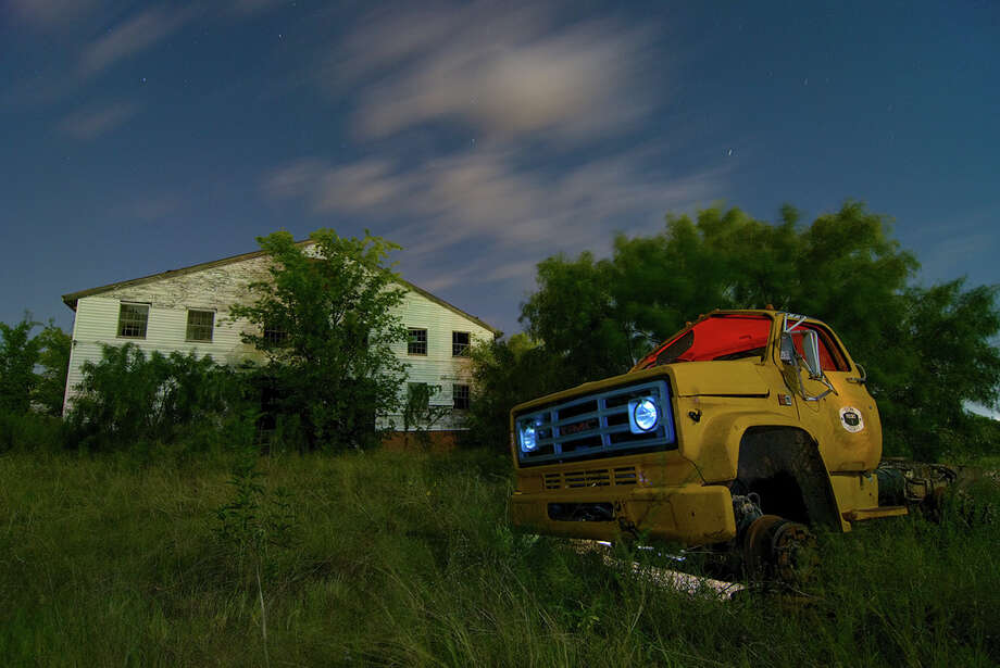 """Brownwood, Texas was once a booming military town where the headquarters of the US Army's """"Texas Division"""" was stationed during World War II. Texas photographer Noel Kerns caputured an atmosphere of haunting untold stories in a series of night images that includes decayed military buildings, an abandoned WWII-era brothel, a dilapidated theater and more. Photo: Noel Kerns"""