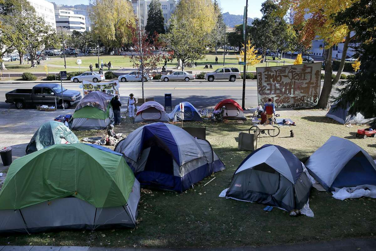 The homeless have taken over the front lawn outside old City Hall calling their camp,