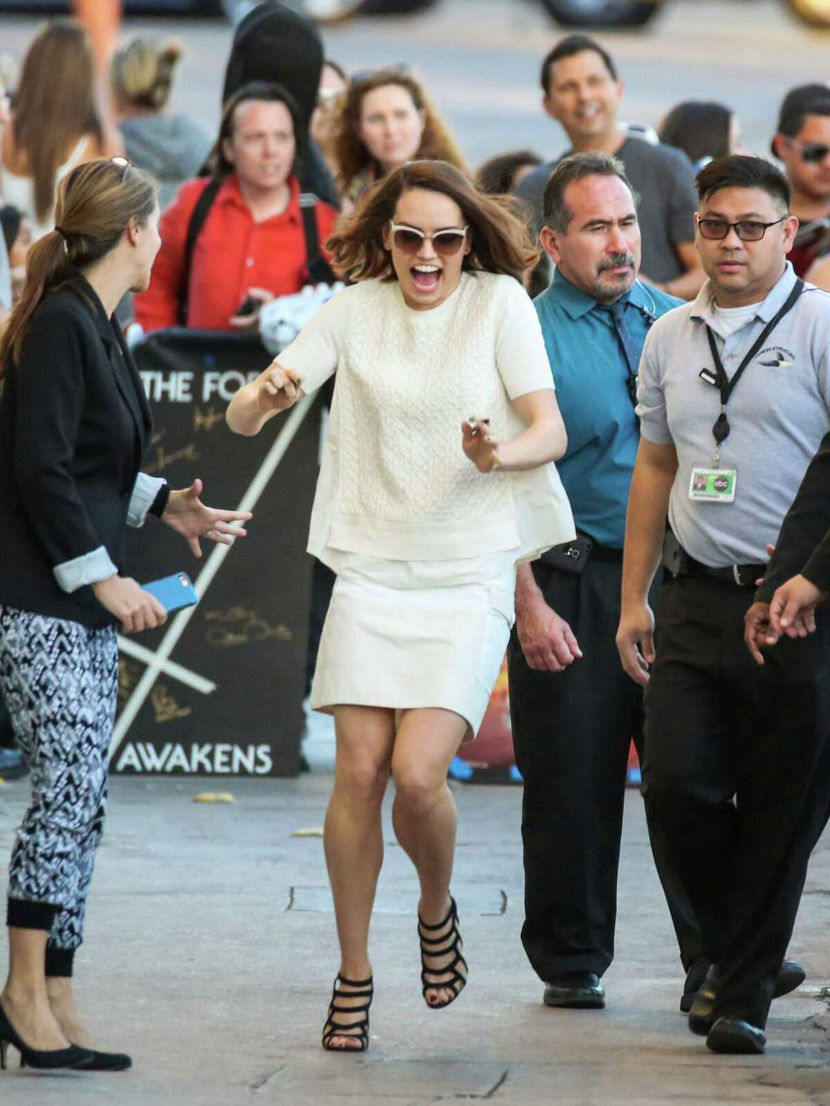 That time you were sooooo excited you freaked everyone out? ... Daisy Ridley is seen at 'Jimmy Kimmel Live' on November 23, 2015 in Los Angeles, California.After cruising this gallery check out the galleries for May - June - July - August - September - October.