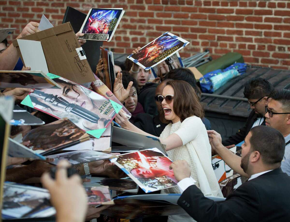 I love this job! ... Daisy Ridley is seen at 'Jimmy Kimmel Live' on November 23, 2015 in Los Angeles, California.