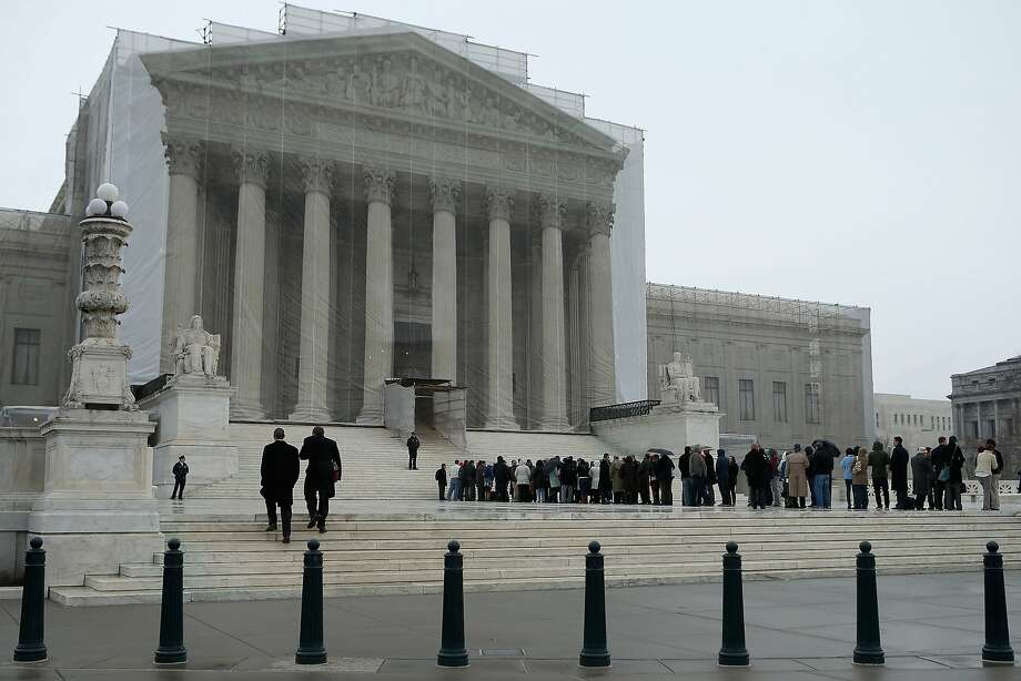 The U.S. Supreme Court building in Washington, D.C., in 2013. The court ruled Monday that a Berkeley woman who lost her legs in an Austrian train accident could not file suit against the state-owned railroad in the United States, where she bought her ticket. Photo: Chip Somodevilla, Getty Images