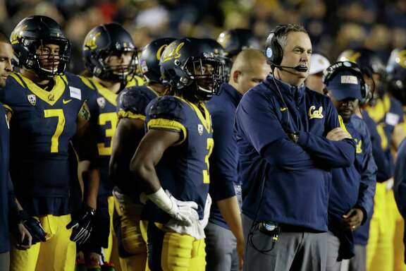 California head coach Sonny Dykes during the second half of an NCAA college football game against Oregon State Saturday, Nov. 14, 2015, in Berkeley, Calif. (AP Photo/Eric Risberg)