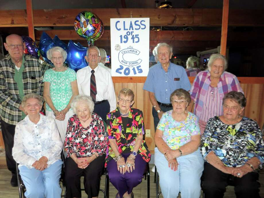 The Columbia High School Class of 1945 celebrated its 70th High School Reunion in September at the Greenbush Inn  in East Greenbush. There were ten classmates in attendance along with some relatives.  They have been gathering faithfully every five years. (Courtesy of Mary Beth Burrill) Photo: Picasa