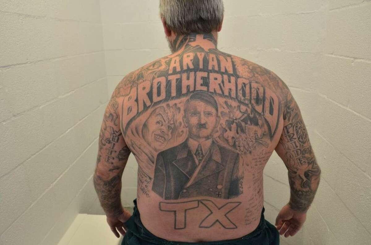 Aryan Brotherhood Authorities call James Byrd a kingpin in the Aryan Brotherhood of Texas. Prosecutors described the gang-related markings on his body: