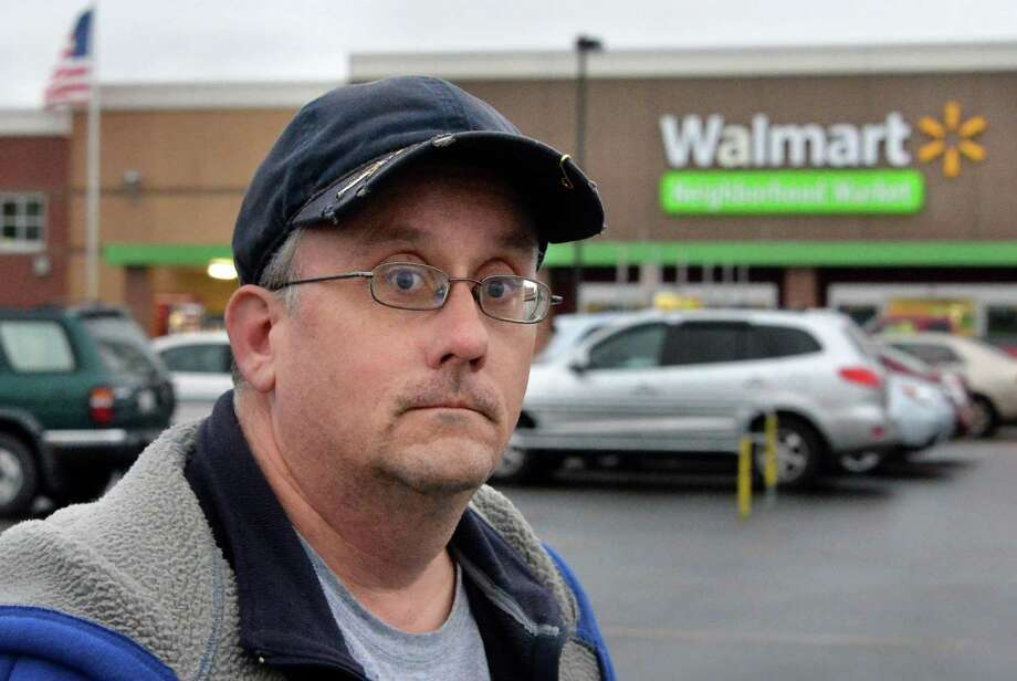 Michael Walsh of Schenectady outside the Niskayuna Walmart Tuesday Dec. 1, 2015 in Niskayuna, NY.  (John Carl D'Annibale / Times Union) Photo: John Carl D'Annibale / 10034465A