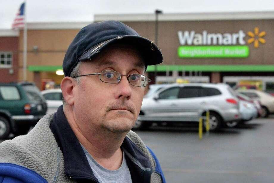 Michael Walsh of Schenectady outside the Niskayuna Walmart Tuesday Dec. 1, 2015 in Niskayuna, NY.  (John Carl D'Annibale / Times Union) Photo: John Carl D'Annibale / 10034465A