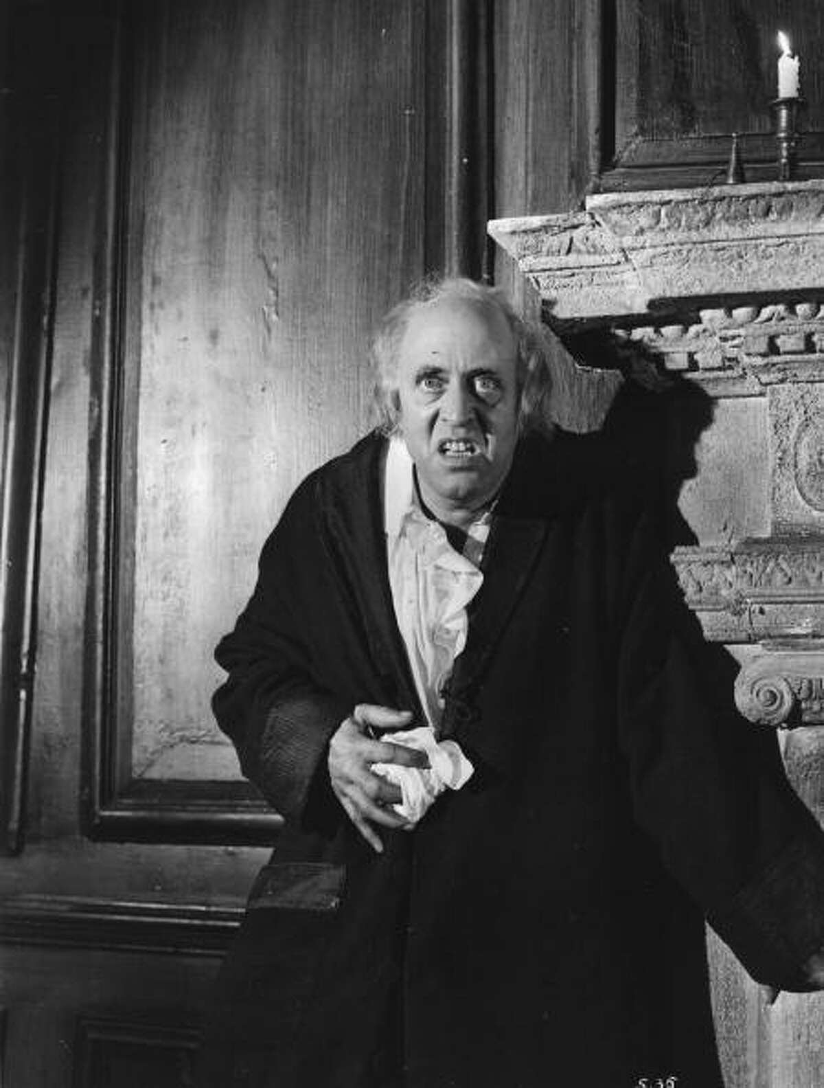 1951: Alastair Sim stars in the film 'Scrooge' (aka 'A Christmas Carol'), directed by Brian Desmond Hurst for Renown. (Photo by Hulton Archive/Getty Images)