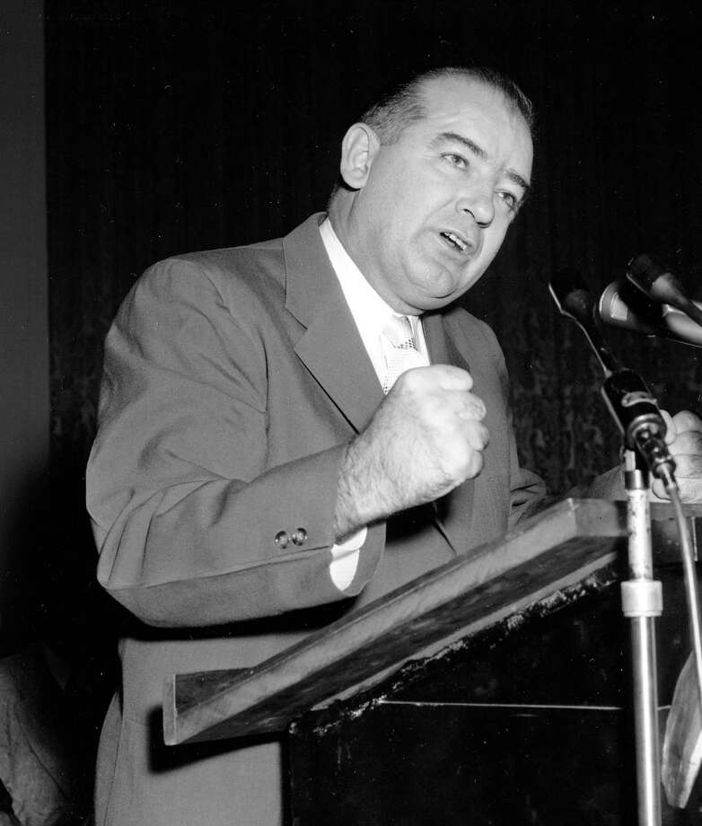 CareerJoseph McCarthy served as a senator from Wisconsin from 1947 to his death in 1957. During that time he built his reputation on claiming to root out alleged Communists in the government and elsewhere. Photo: BOB SCHUTZ, AP / AP