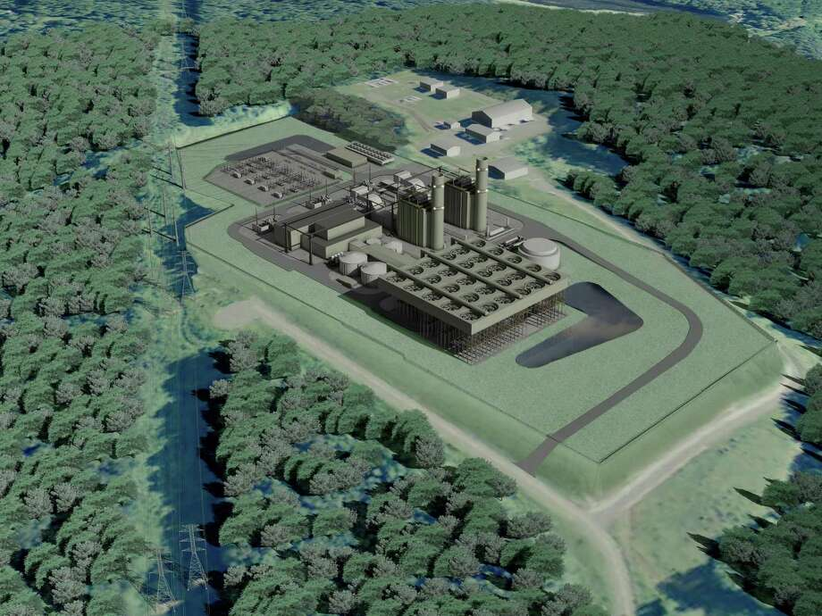 A rendering a power plant proposed to be built in Oxford. The natural-gas fired facility was issued permits by the state this week, clearing the way for construction.