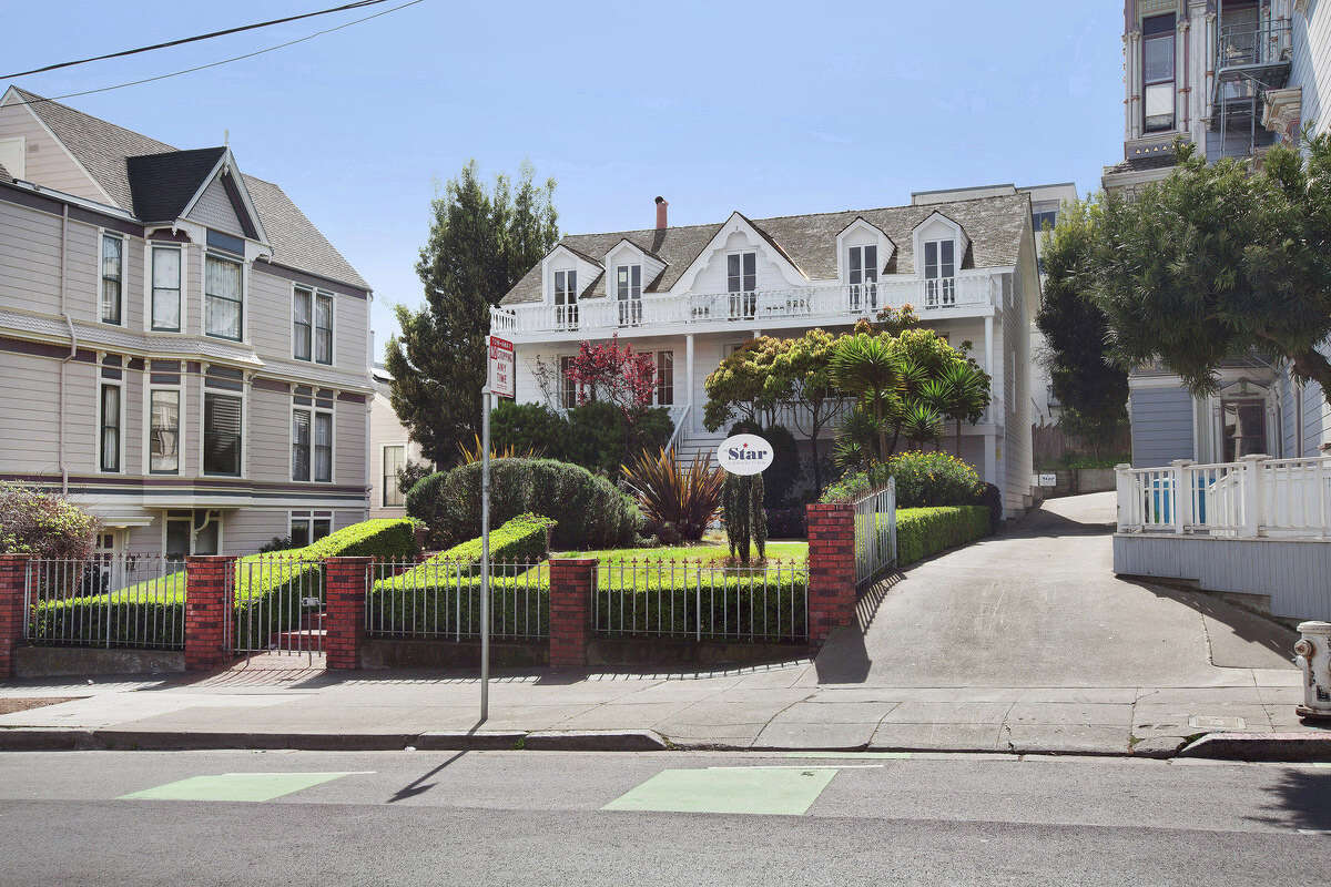 A shot of the Phelps House, a historic San Francisco home built in 1850 that is being rented as commercial space.