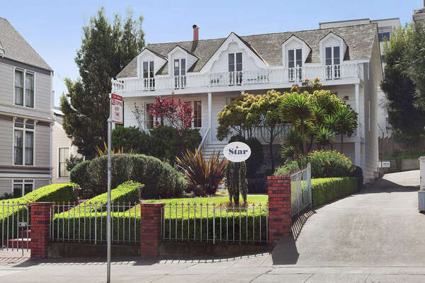 A shot of the Phelps House, a historic San Francisco home built in 1850 that is being rented as office space.