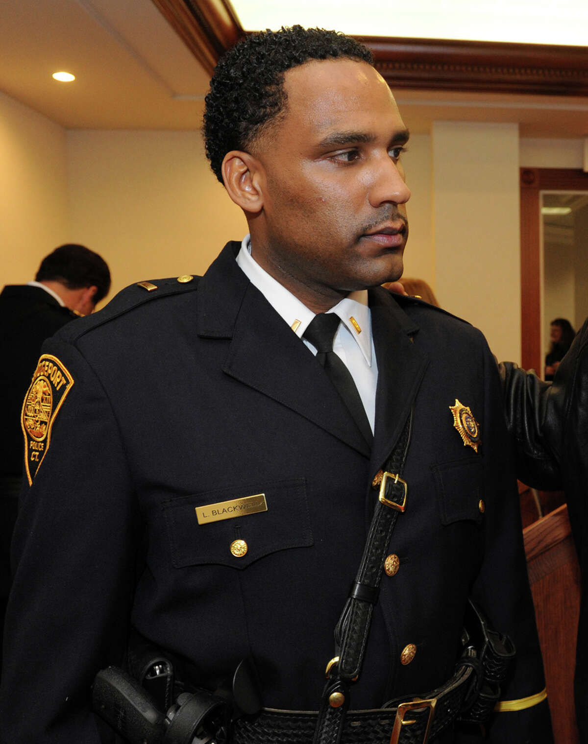 Bridgeport Police Lt. Lonnie Blackwell, leader of the Bridgeport Guardians, was relieved of his command of the training academy and placed on administrative duty by Police Chief Joseph Gaudett pending possible firing.