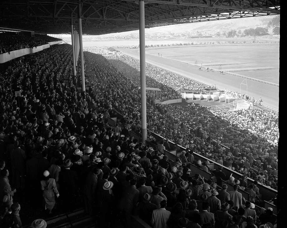 A record crowd was at Golden Gate Fields to watch the race between Citation and Noor on June 24, 1950. Photo: Bob Campbell, The Chronicle