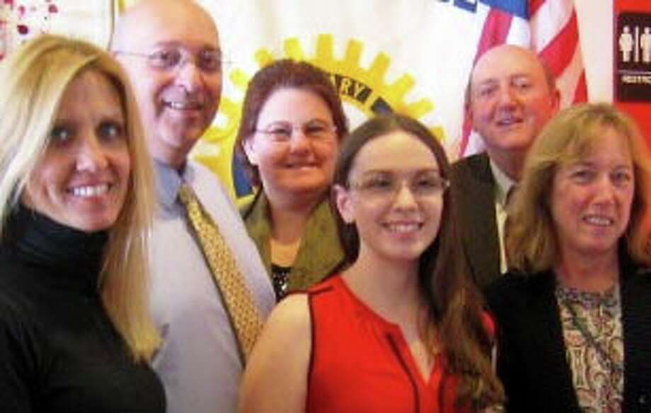The New Milford Rotary Club recently presented New Milford High School senior Maria Galletta with the club's October Student of the Month Award, October 2015. Maria is a member of the National Honor Society and has won AP English literature, marketing and business computing application awards. She is a member of DECA and the Student Council, NAMES coordinator and writes for the NMHS literary magazine. She teaches children's craft classes at the New Milford Public Library, volunteers for the Connecticut Shelter Alliance and is a competitive ice dancer. She plans to major in marketing and international business at Hofstra University and pursue a career in international marketing. Photo: Courtesy Of Rotary Club Of New Milford / The News-Times Contributed