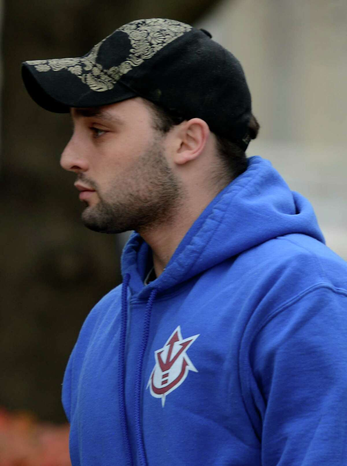 Joseph Caputo arriving at federal court in Bridgeport on Tuesday for pre-trial probation matters.
