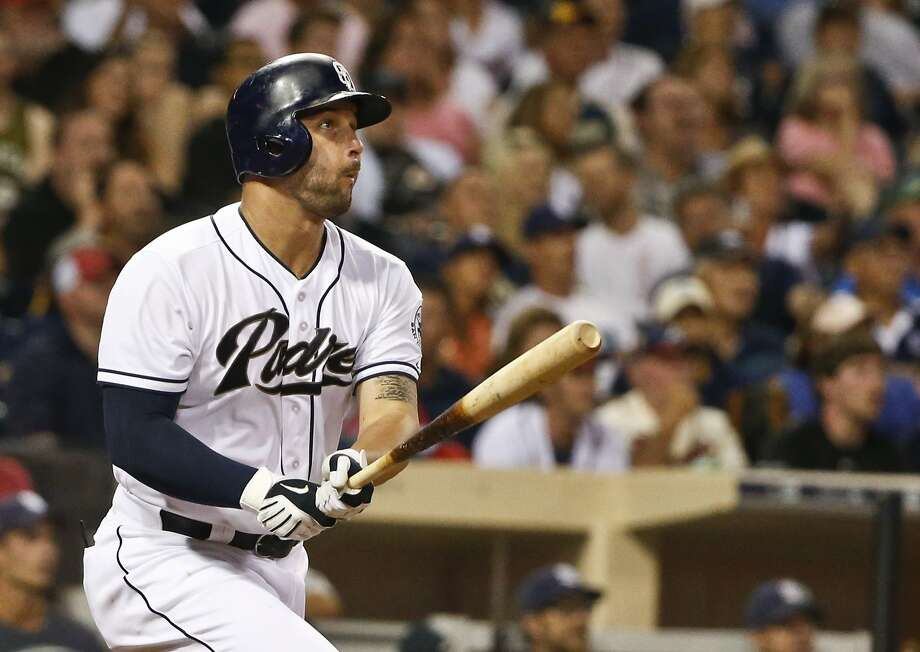 A's acquire Yonder Alonso, reliever from Padres - San ...