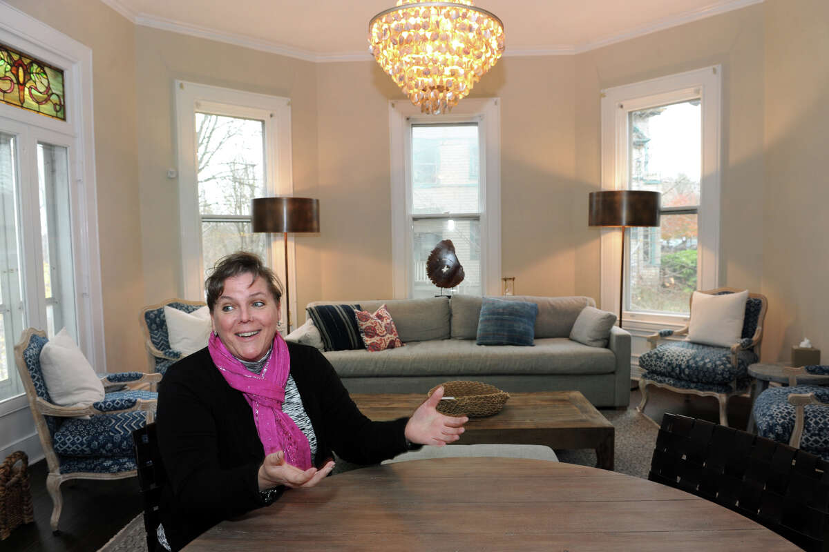 Allison Wysota founded Adam's House, a grief counseling center that will soon open in Shelton, Conn. Dec. 1, 2015. The house is named in memory of Wysota's late husband, Adam.