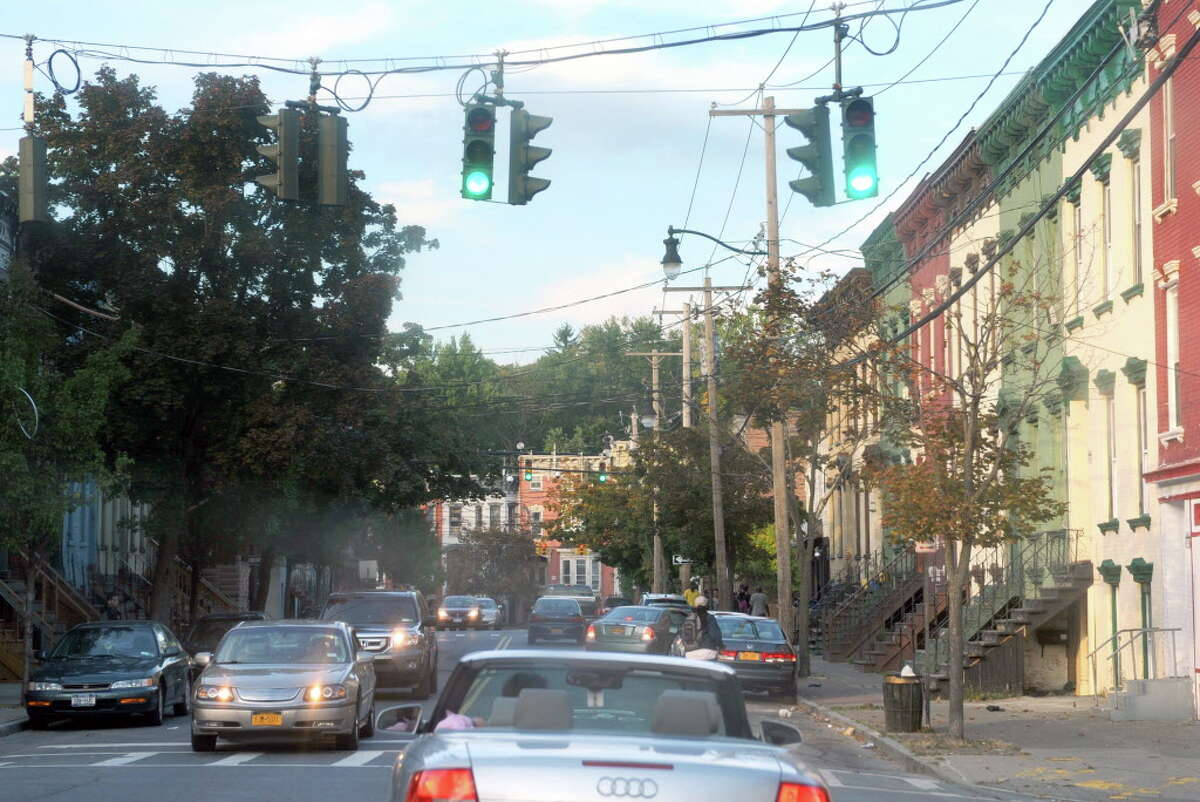 Entering the Arbor Hill neighborhood on Lark Street approuching Clinton Avenue on Tuesday Sept. 30, 2014 in Albany, N.Y. (Michael P. Farrell/Times Union)