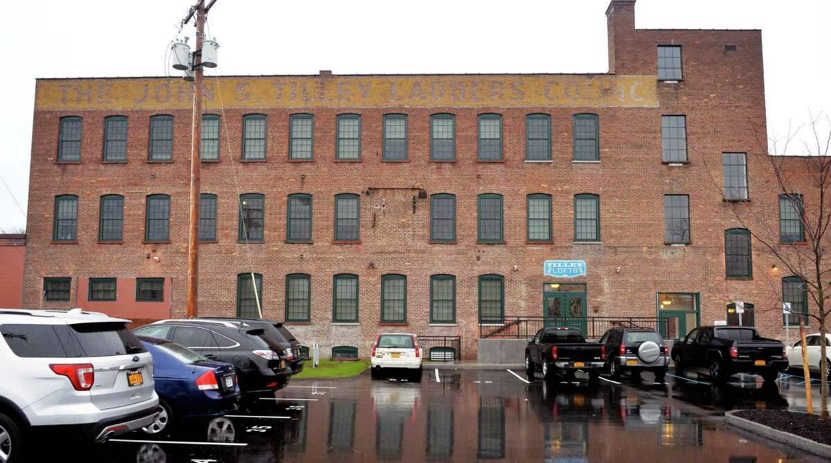 Tilley Lofts, the recently completed apartment complex at the former Tilley Ladder Co. Wednesday Dec. 2, 2015 in Watervliet, NY. (John Carl D'Annibale / Times Union)
