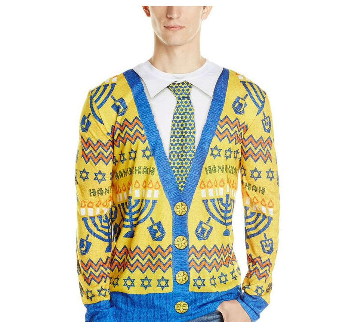 You can get this Hanukkah sweater here.