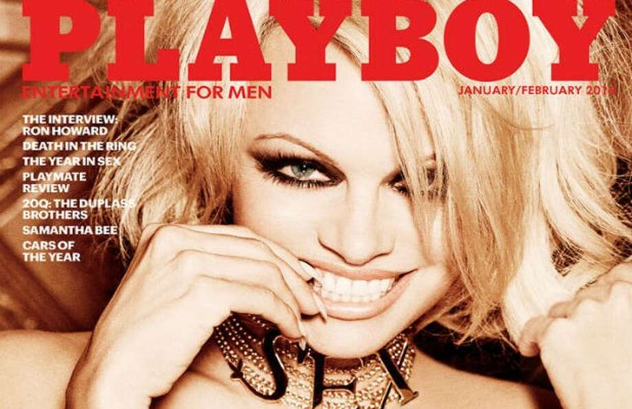 Pamela Anderson, seen here in an earlier Playboy cover, will be the magazine's last nude.