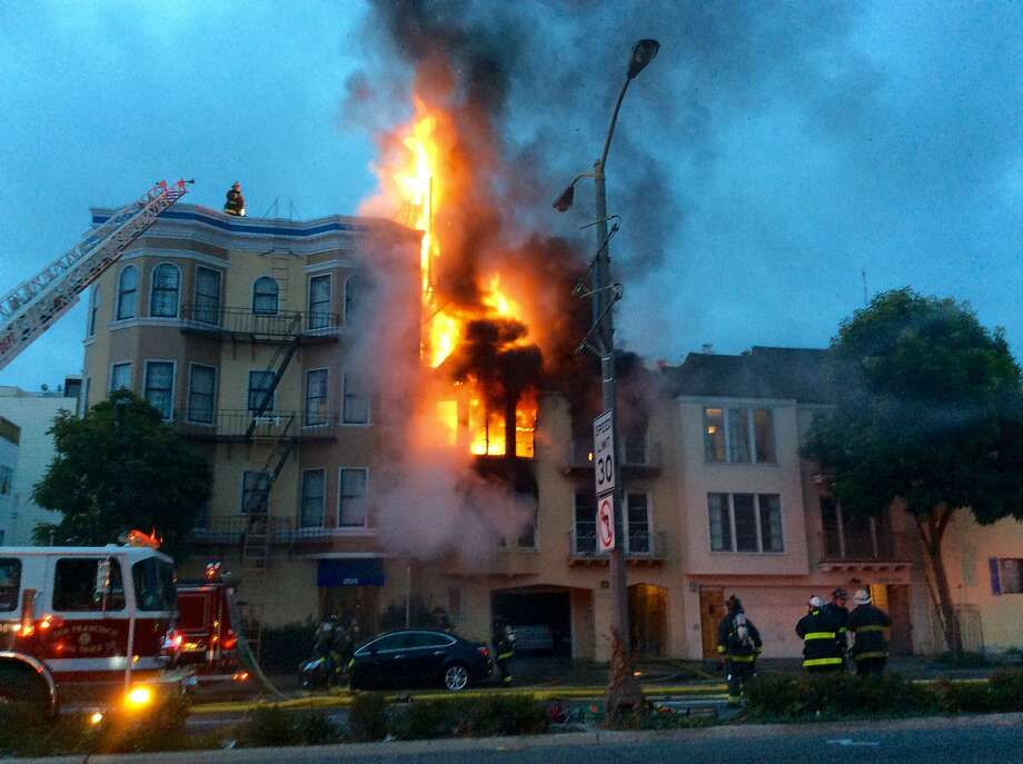 Building On Fire : Injured in apartment building fire s f marina