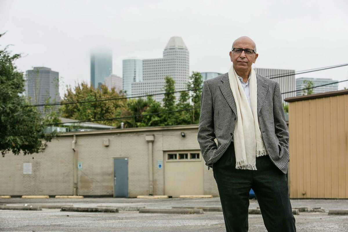 Restaurateur and developer Fred Sharifi stands in the parking lot of Meteor, a property he purchased as he looks to redevelop the area around Fairview Street and Taft Street in Montrose Tuesday, Dec. 1, 2015, in Houston. ( Michael Ciaglo / Houston Chronicle )