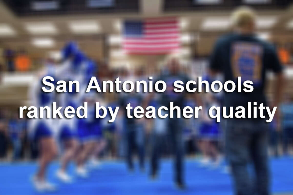 A list published by Niche ranked San Antonio-area schools with the best teachers, based on surveys, student-teacher ratios and salaries.Keep clicking to see where high schools in San Antonio ranked.