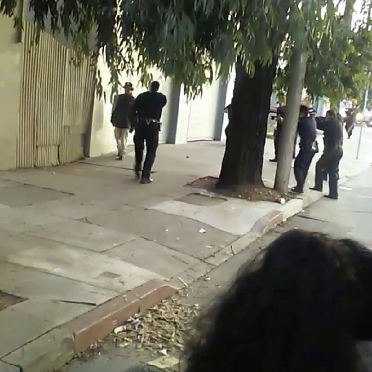 The shooting on Keith Street in San Francisco occurred after officers tried and failed to subdue the man with nonlethal beanbags, was recorded by someone on a Muni bus who posted the video to Instagram.