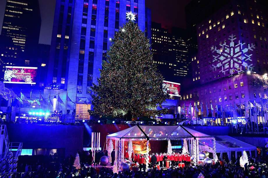 NEW YORK, NY - DECEMBER 02:  A general view of atmosphere at the 83rd Rockefeller Center Tree Lighting on December 2, 2015 in New York City.  (Photo by Theo Wargo/Getty Images) Photo: Theo Wargo, Getty Images