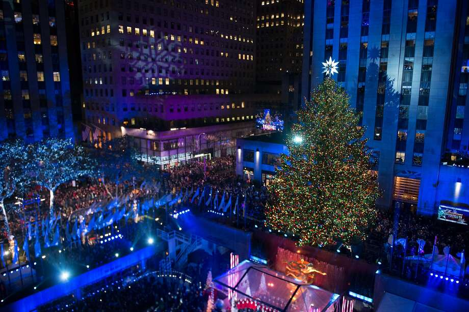 NEW YORK, NY - DECEMBER 02:  General view of atmosphere during the 83rd Rockefeller Center tree lighting 2015 on December 2, 2015 in New York City.  (Photo by Noam Galai/Getty Images) Photo: Noam Galai, Getty Images