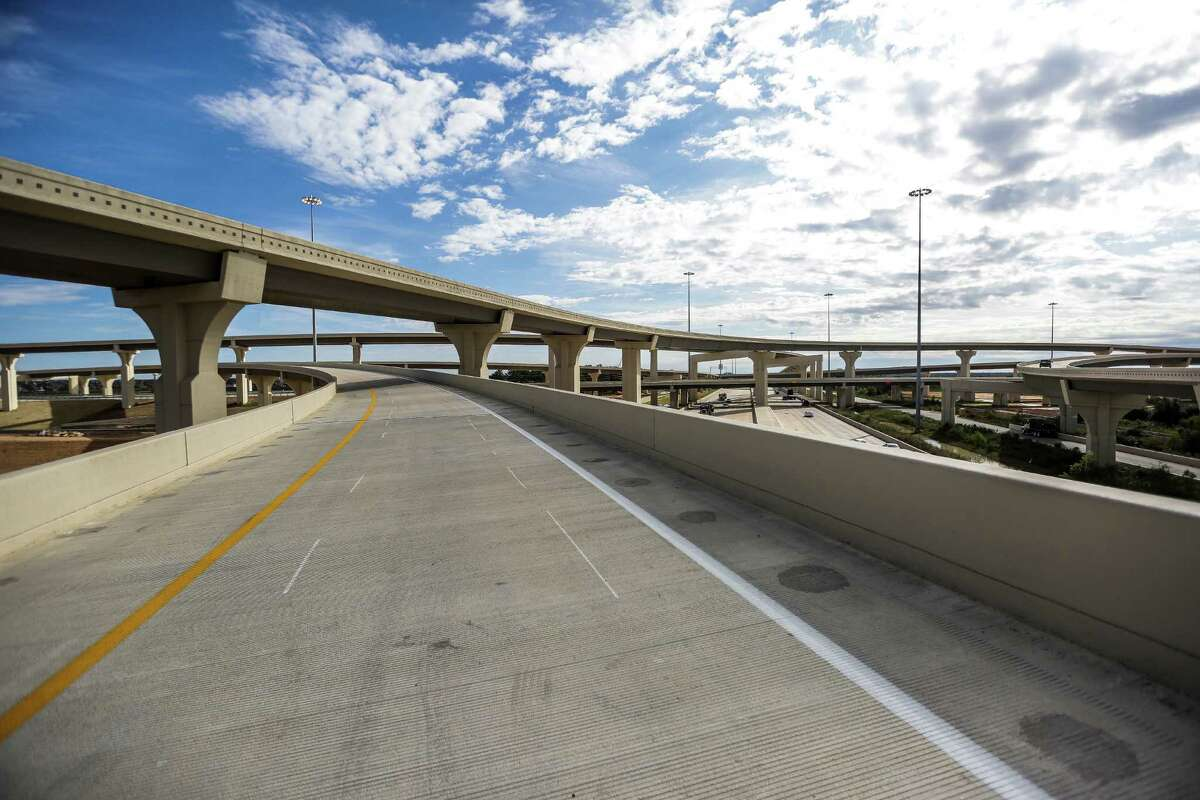 An empty flyover connects the Grand Parkway to U.S. 290 on Nov. 12.