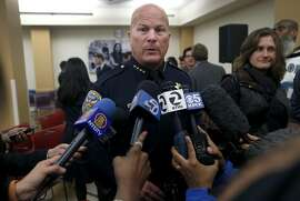 Police Chief Greg Suhr comments in San Francisco, Calif. on Thursday, Dec. 3, 2015 about the officer involved shooting which resulted in the death of a man who refused to put down a knife in the Bayview district Wednesday.