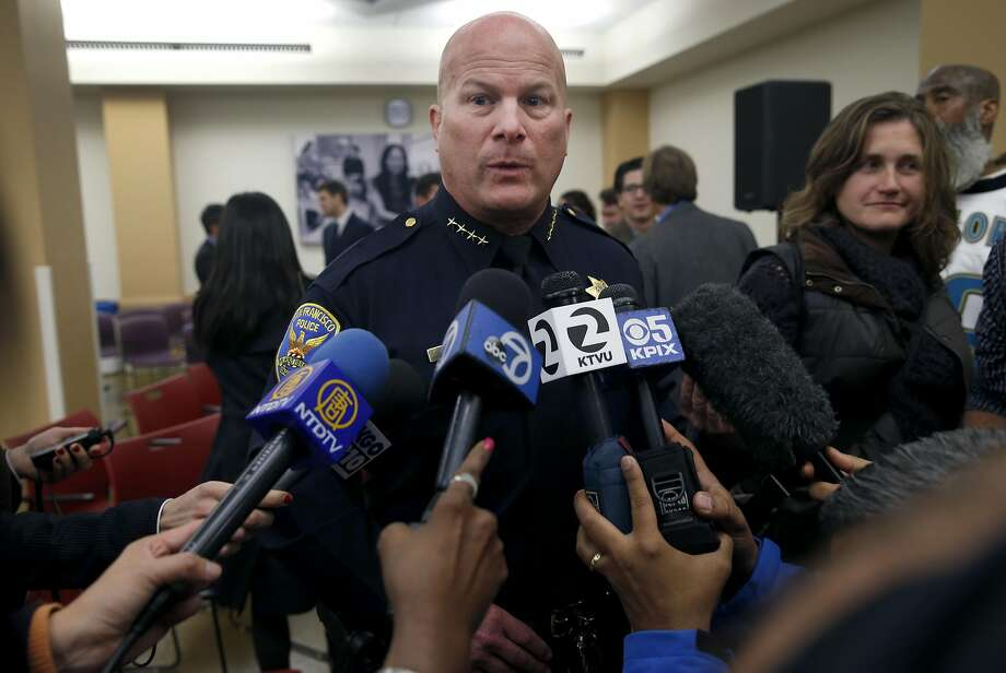 Police Chief Greg Suhr comments in San Francisco, Calif. on Thursday, Dec. 3, 2015 about the officer involved shooting which resulted in the death of a man who refused to put down a knife in the Bayview district Wednesday. Photo: Paul Chinn, The Chronicle