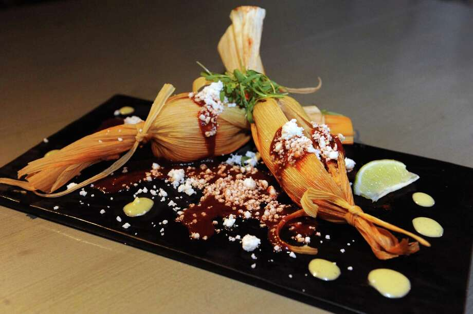 Pork tamale at Ama Cocina on Tuesday Dec. 1, 2015 in Albany, N.Y. (Michael P. Farrell/Times Union) Photo: Michael P. Farrell / 10034484A