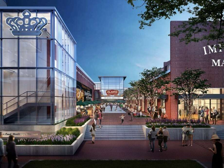 A rendering of Alamo Drafthouse Cinema in Sugar Land's Imperial Market. The movie theater will have nine screens. Photo: Courtesy Of Triple Tap Ventures