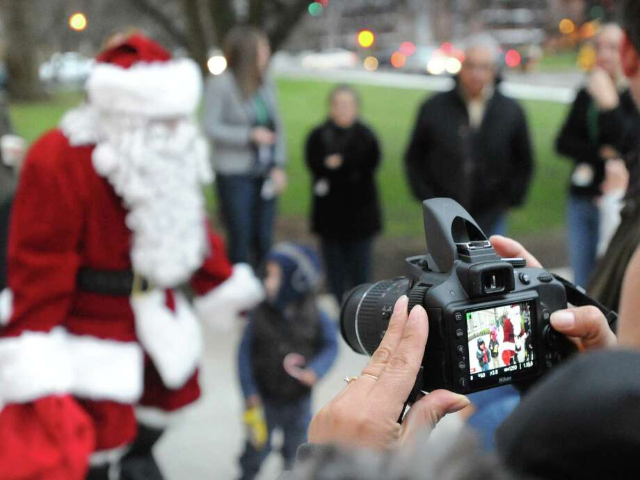 The Town of Greenwich annual holiday tree lighting ceremony in front of Greenwich Town Hall will be held Saturday. Photo: Bob Luckey / Bob Luckey / Greenwich Time