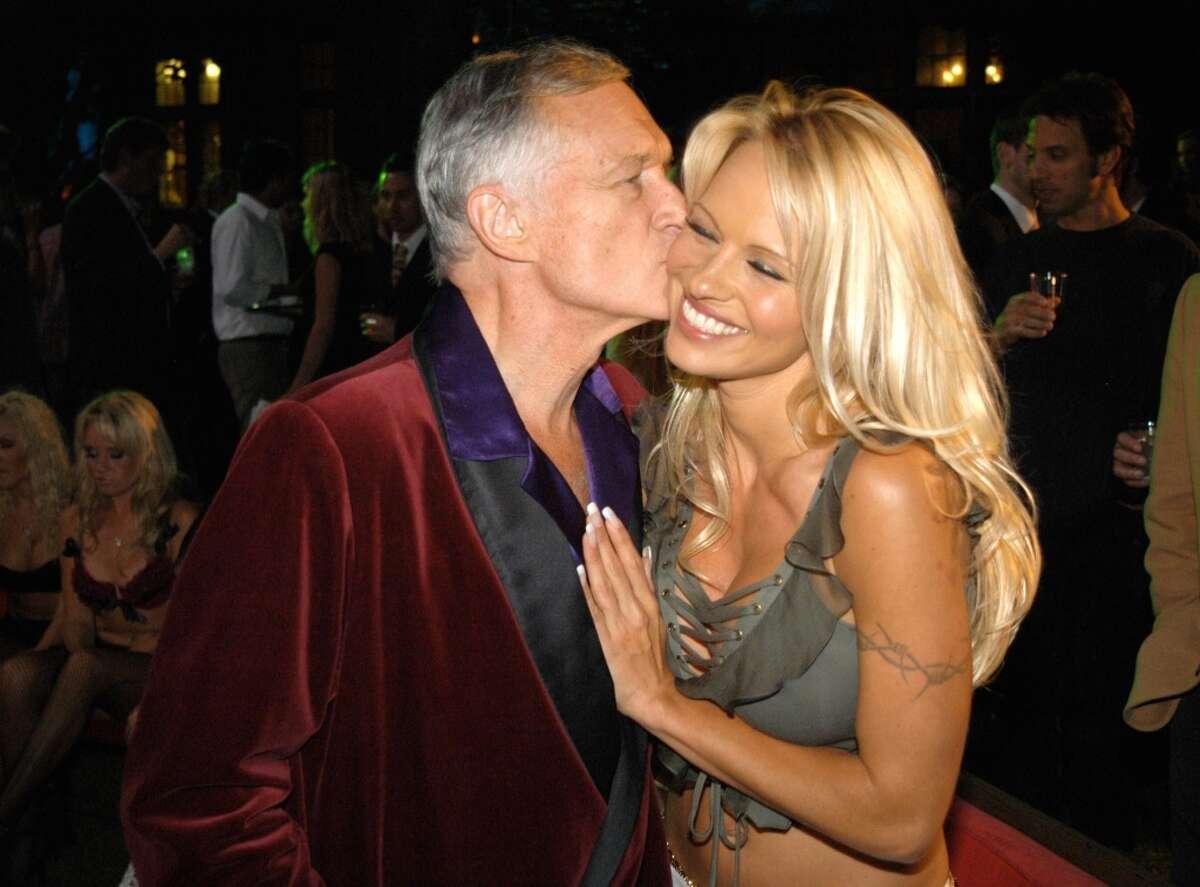 Hugh Hefner and Pamela Anderson