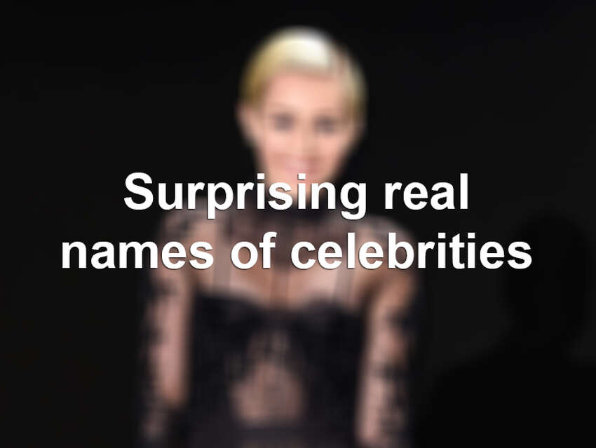 Surprising real names of celebrities.