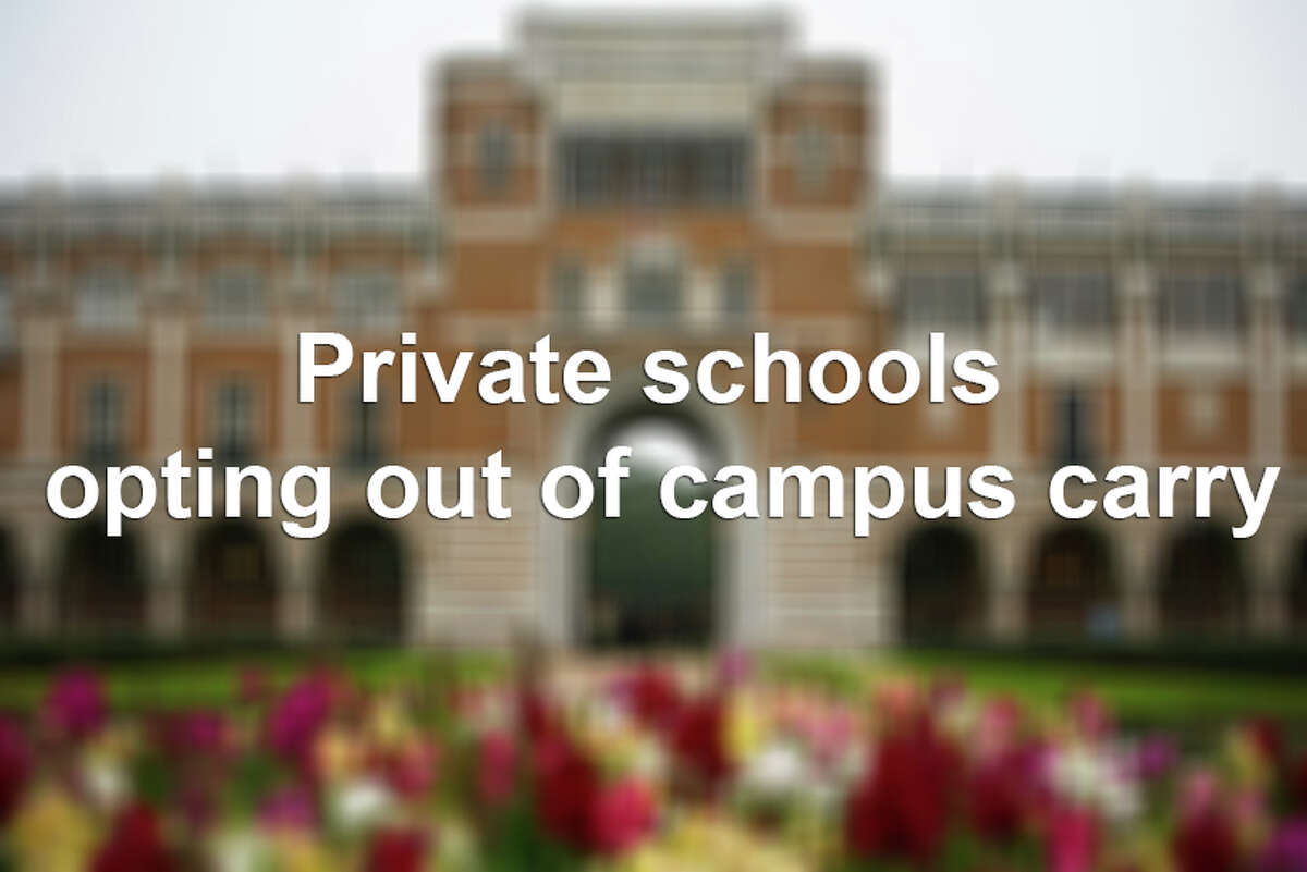 Private schools opting out of campus carry.