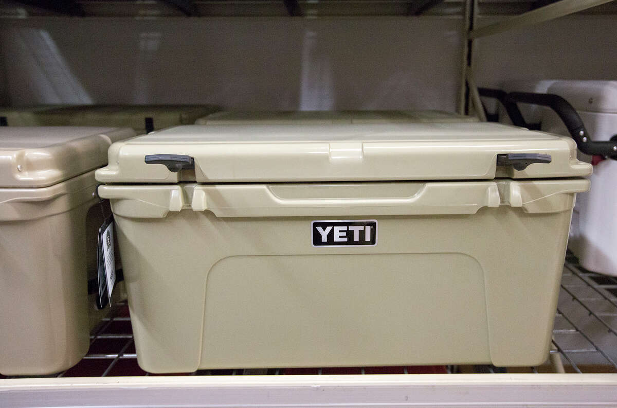 A YETI cooler is seen at Academy Sports & Outdoors, during Black Friday, Friday, Nov. 27, 2015, in Pearland. (Cody Duty / Houston Chronicle)