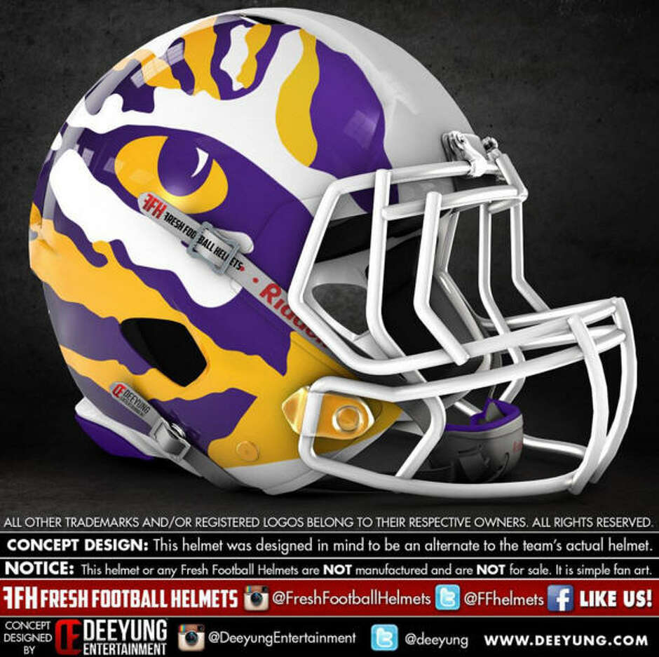 LSU Tigers alternative football helmet